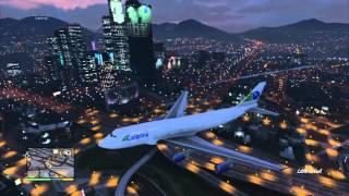 GTA 5: Flying around Los Santos in the biggest plane in Gta 5