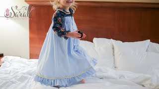Sewing Tutorial for Smocked Nightgown using Children's Corner Ruthie