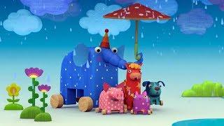 Деревяшки - Дождь 🌨️ - Теремок ТВ - песенки для детей / Развивающие мультики для детей и малышей