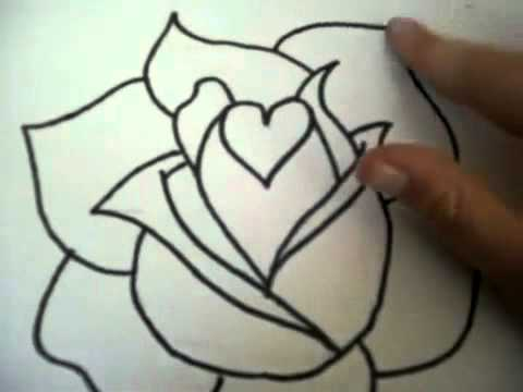 How to draw a rose youtube youtube how to draw a rose youtube ccuart Images