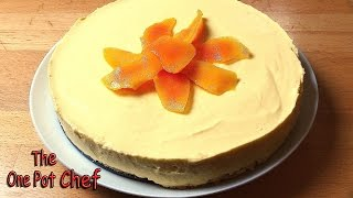 No Bake Mango Cheesecake | One Pot Chef