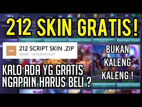 Mantep! 212 Script Skin Gratis Mobile Legends Terbaru !!!