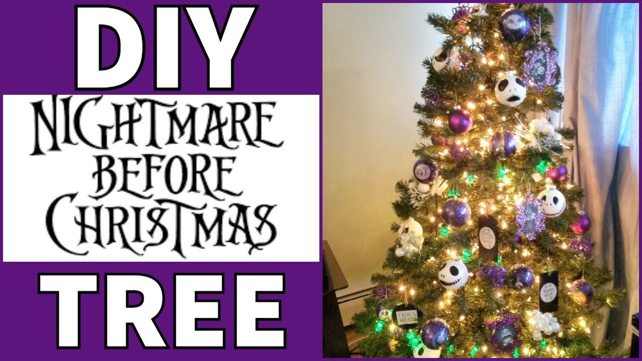 Nightmare Before Christmas Tree DIY - YouTube