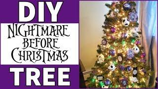 Nightmare Before Christmas Tree Diy Youtube