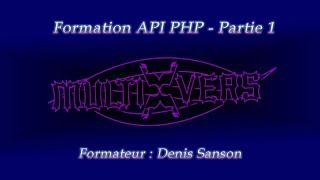 Formation : API PHP - Partie 1