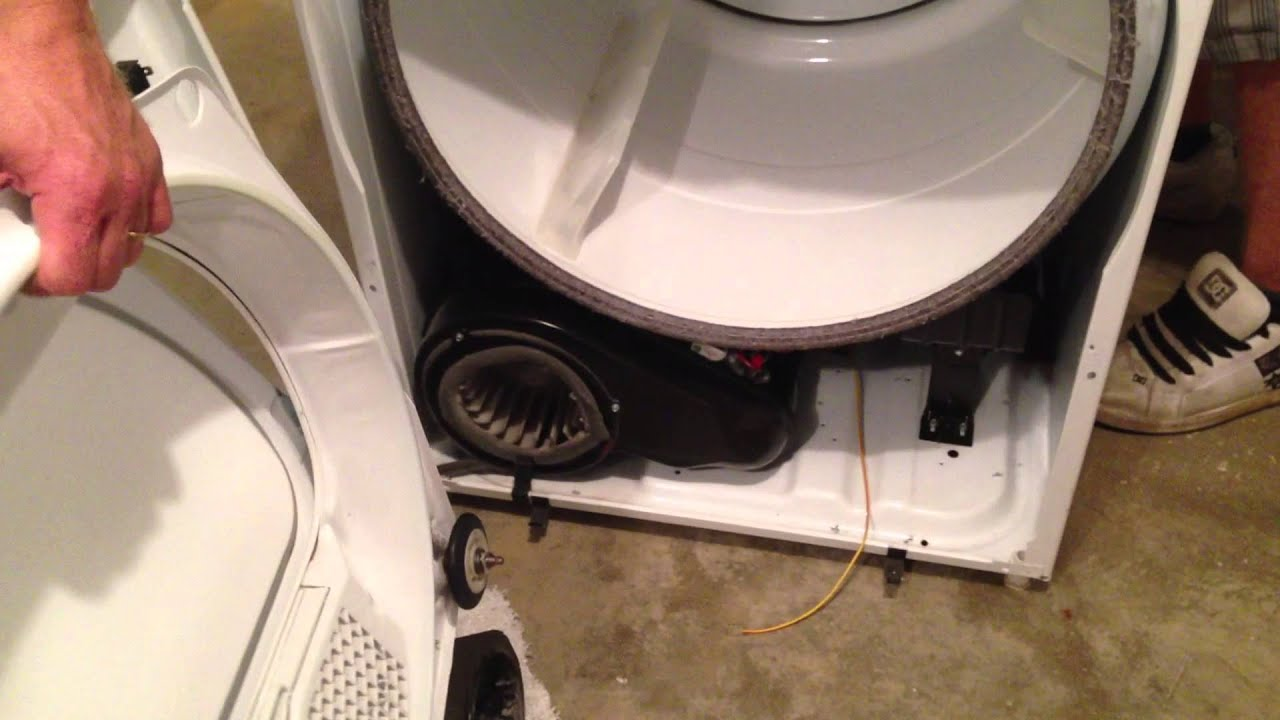 how to replace a broken dryer belt on a whirlpool dryer by how to bob [ 1280 x 720 Pixel ]