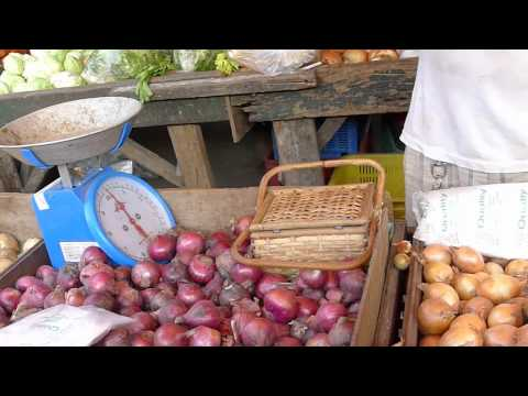 Market in Angeles City, Philippines - Chicken, Fish, Vegetables