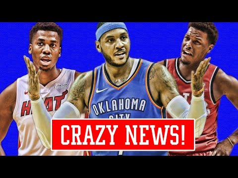 CARMELO ANTHONY NOT HAPPY! KYLE LOWRY TRADE! WHITSIDE ROASTS MIAMI! | NBA NEWS
