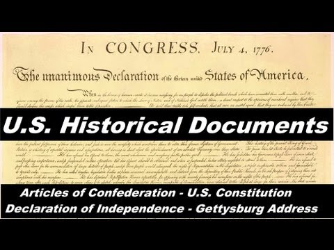 The Best United States Documents - Articles of Confederation; Constitution; Declaration; Gettysburg