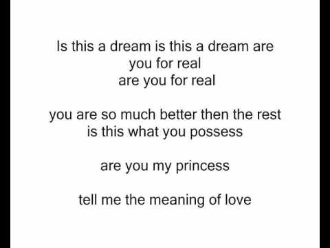 Tell me the meaning of love with lyrics