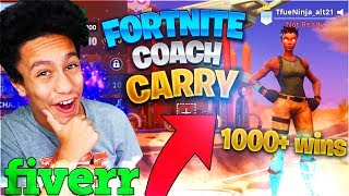 I Hired a PRO Fortnite Coach, Then CARRIED Him To a WIN!