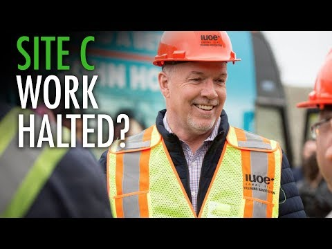 NDP's Horgan urges BC Hydro to stop work on Site C Dam