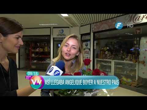 Así llegó Angelique Boyer a Paraguay