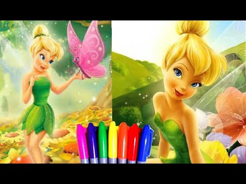 Disney Fairy Princess Tinkerbell Fairytale Fairies Coloring Book Page Fun For Kids To Learn