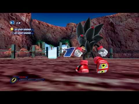 Sonic Unleashed - Red Canyon + Shadow in Sonic Unleashed