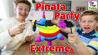 PINATA PARTY SPIEL   BEAN BOOZLED CHALLENGE   Wie schmeckt Erbrochenes? TipTapTube Spielzeug