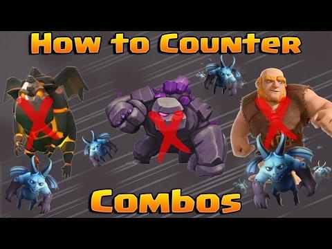 Clash Royale - How to Counter BIG Pushes! (Giant, Royal Giant, Golem, Lava Hound)