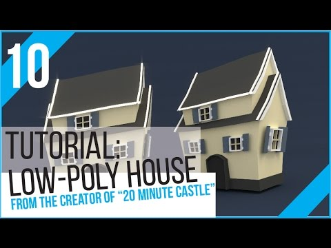 Blender Tutorial: Low Poly House