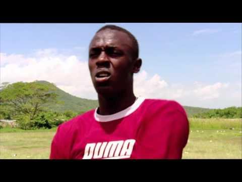 Teenage Usain Bolt on Trans World Sport