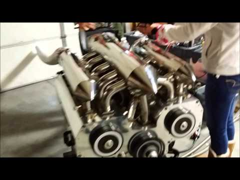 12 Rotor Engine Running- Different Angles