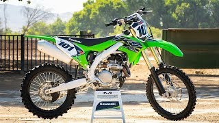For 2019, Kawasaki has released an all-new KX450. More powerful, fe...