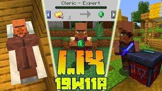Minecraft 1.14: [Snapshot 19w11a] Co Nowego? Nowy Handel! Inteligencja Wieśniaków! *Mogą Spać*