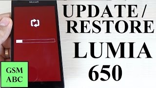 RESTORE/UPDATE Microsoft Lumia 650 with Windows Device Recovery Tool