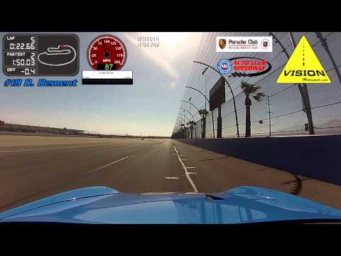 Dwain Dement racing the Vision Motorsports Porsche Boxster at Auto Club Speedway