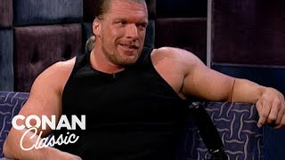 "Triple H Loves Playing The Bad Guy - ""Late Night With Conan O'Brien"""