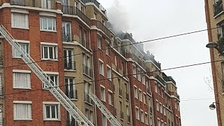 Pompiers de Paris incendie appart Porte d'Orléans 2019 Paris Fire Dept on scene Apartment Fire