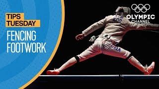 Learn the Basics of Fencing Foot Work ft. Erwann Le Pechoux | Olympians' Tips