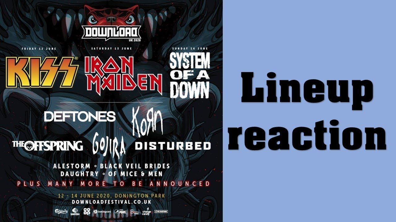 Download Festival 2020 Lineup Reaction And Review Youtube