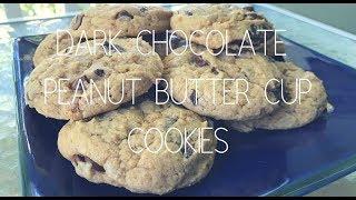 Dark Chocolate Peanut Butter Cup Cookies   Recipe   Emily Davis