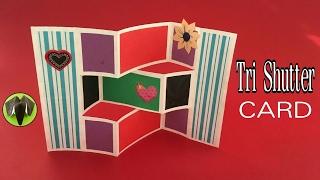 Tri Shutter Card - DIY Tutorial by Paper Folds - 689