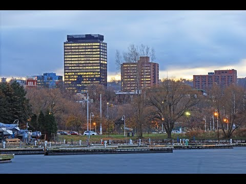 Hamilton, Ontario: Driving Around Downtown in November, 2017