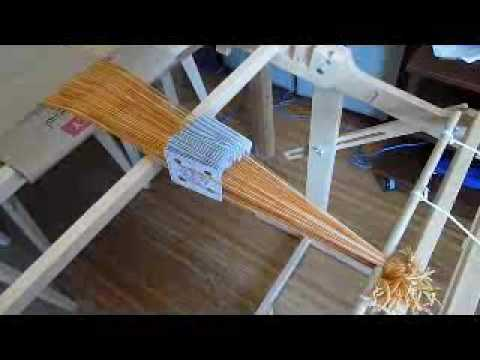 Tablet weaving on a Schacht Flip rigid heddle loom