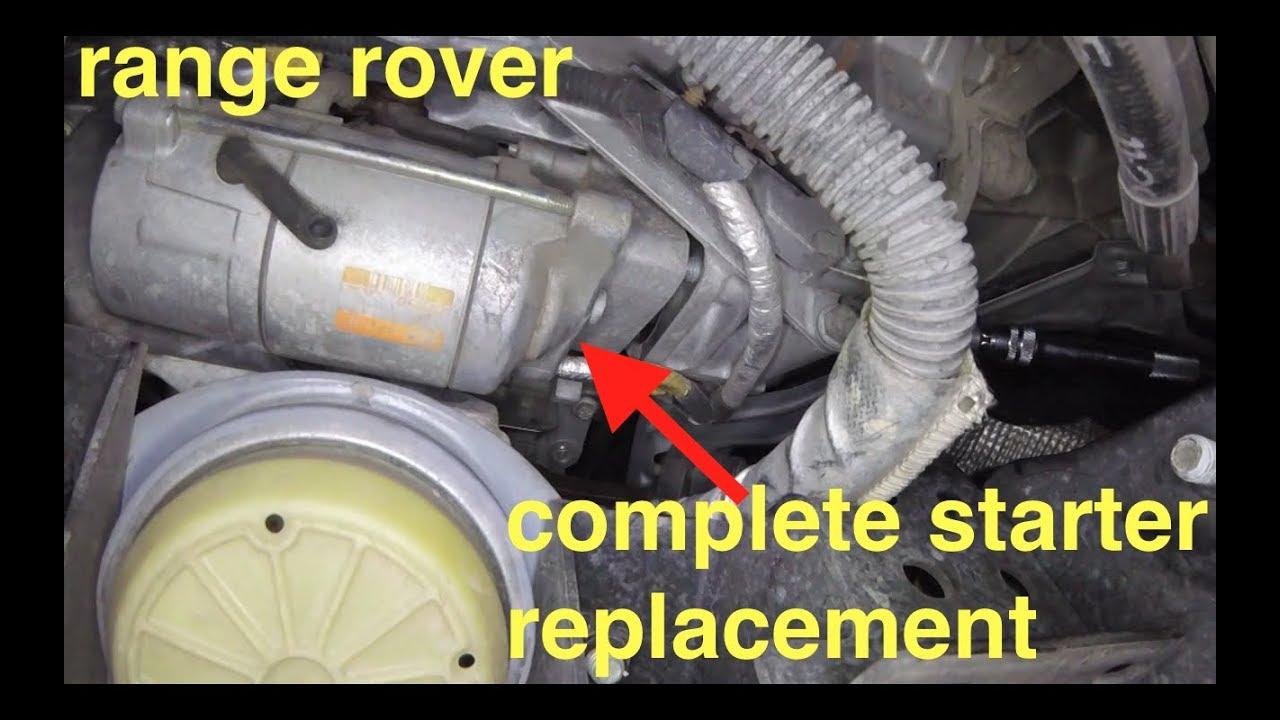 medium resolution of no start just clicking noise starter motor replacement range rover fix it angel