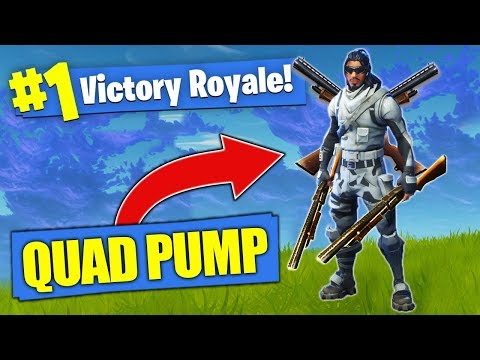 The BROKEN Quad Pump Shotgun Loadout! [Fortnite]