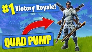 The BROKEN Quad Pump Shotgun Loadout! [Fortnite]