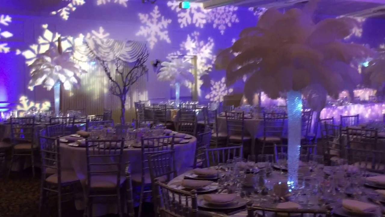 Winterwonderland Themed Wedding With Feather Centerpieces Youtube