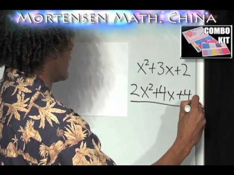 Chinese Algebra intro 3, Mortensen Math China, Kids Montessori K-12 Pre-school video