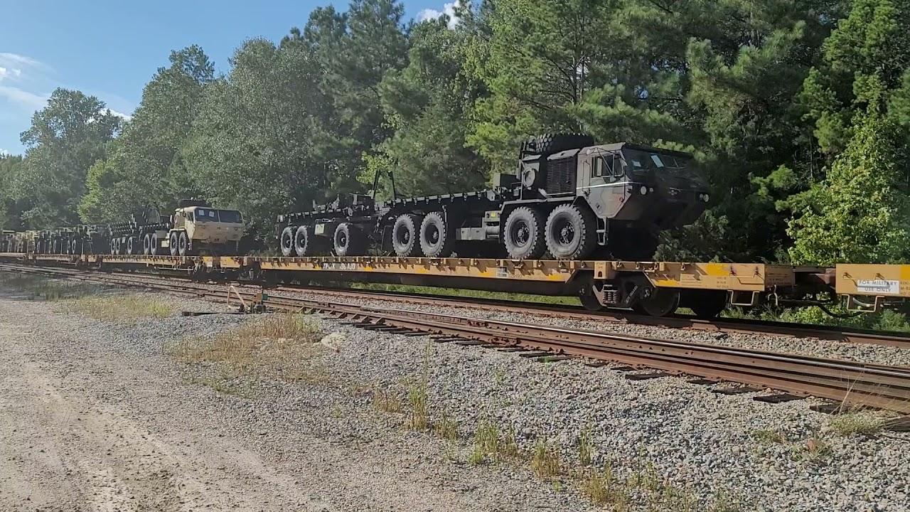 Fully Loaded Military Train W880 coming through Catawba, SC 9/18/2021