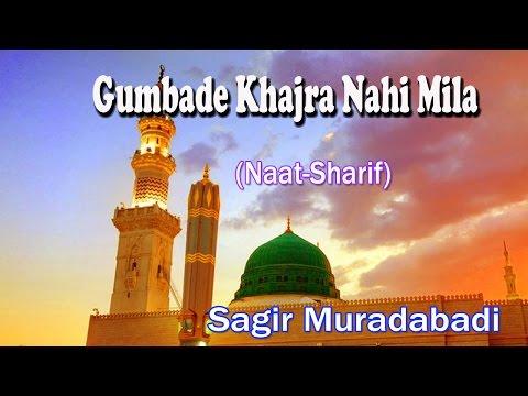 Gumbade Khajra Nahi Mila ☪☪ Latest Naat Sharif New Videos ☪☪ Sagir Muradabadi [HD]