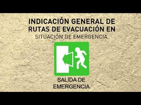 Rutas de evacuación en situación de emergencia