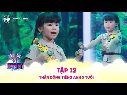 Biệt tài tí hon   tập 12: thần đồng ngoại ngữ Minh Anh trổ tài thuyết trình đề tài bảo vệ môi trường