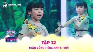 Biệt tài tí hon | tập 12: thần đồng ngoại ngữ Minh Anh trổ tài thuyết trình đề tài bảo vệ môi trường