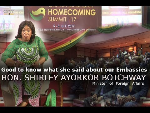 Diaspora questions answered by HON. SHIRLEY AYORKOR BOTCHWAY  Minister  of  Foreign  Affairs