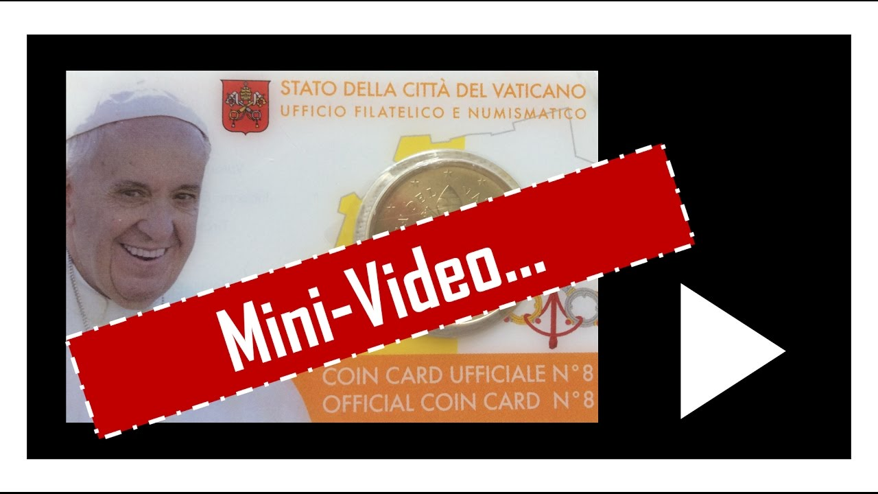 Vatikan Münzen Coincard 50 Ct 2017 Youtube
