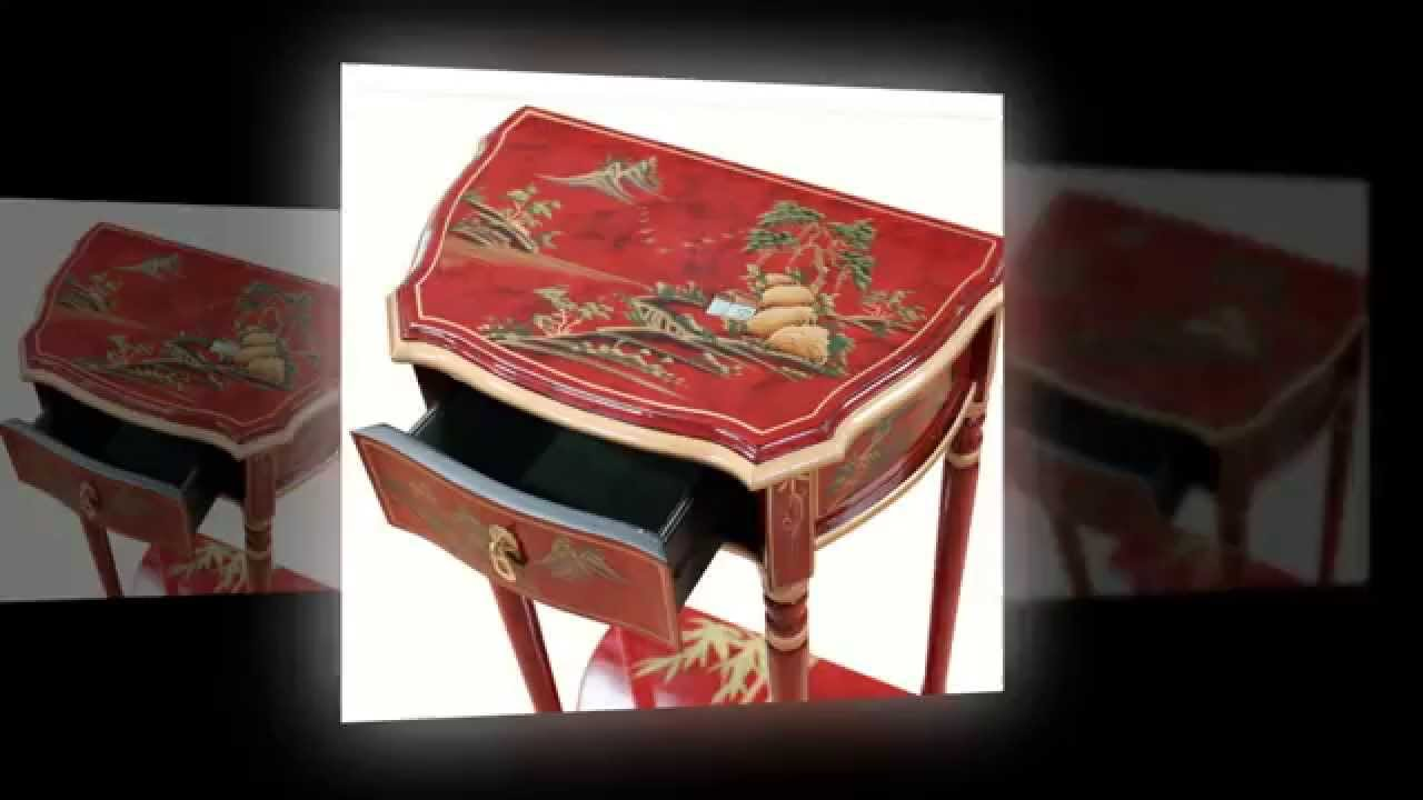 Oriental Chinese Red Artistry Furniture Table By Newquay Bonsai