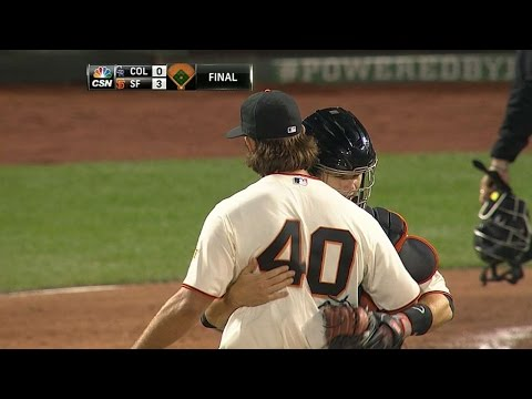 COL@SF: Bumgarner fans 13, throws one-hit shutout